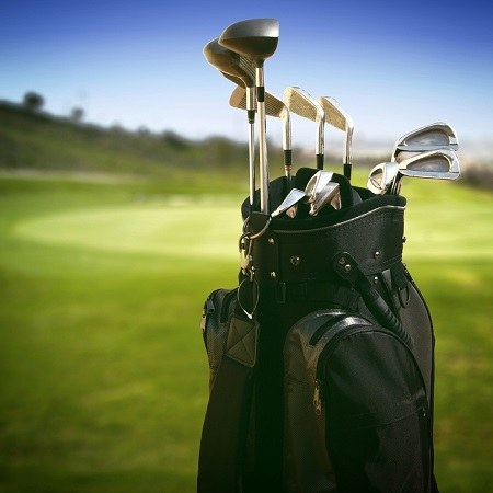 Golf Clubs in Beginner Golf Bag