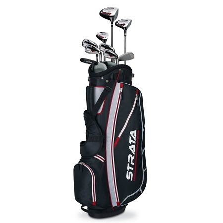 Callaway Mens Strata Complete Golf Club Set With Bag On White Background