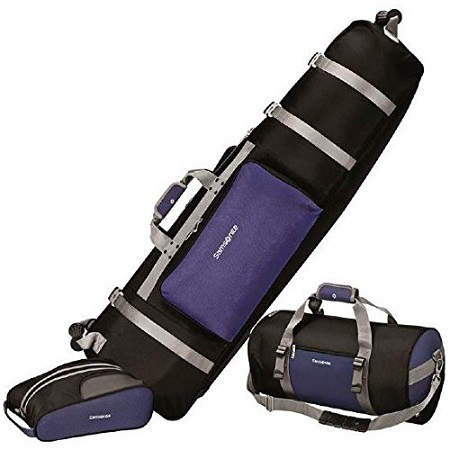 Samsonite Golf Deluxe 3 Piece Travel Set on White Background