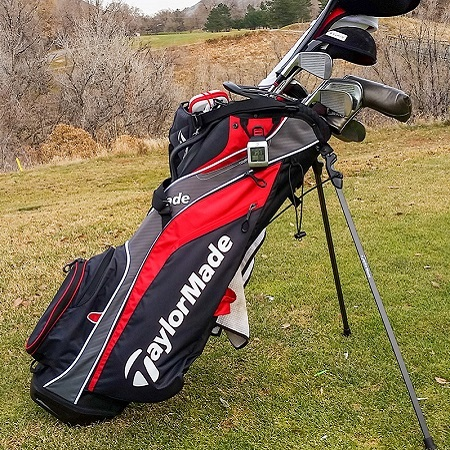Golf Clubs in Taylormade Golf Bag