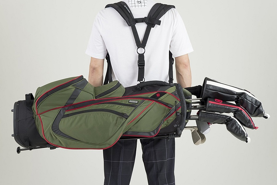Man Wearing OGIO Shredder Stand Bag