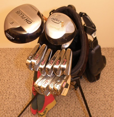 irons, drivers, and putters